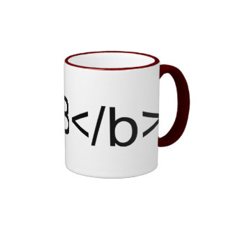 B Bold in Code Ringer Coffee Mug