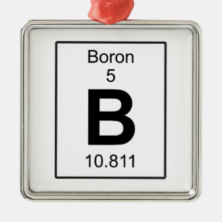 B - Boron Metal Ornament