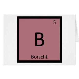 B - Borscht Soup Chemistry Periodic Table Symbol Card