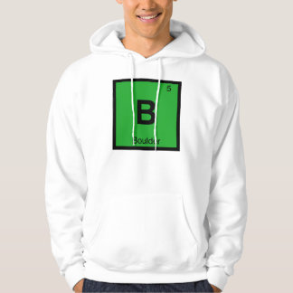B - Boulder Colorado City Chemistry Periodic Table Hoodie