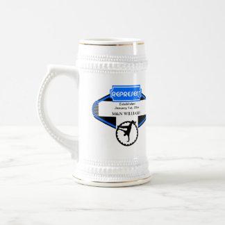 B Boy Black Blue Represent Customize Logo Beer Stein