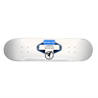 B Boy Black Blue Represent Customize Logo Skateboard Deck