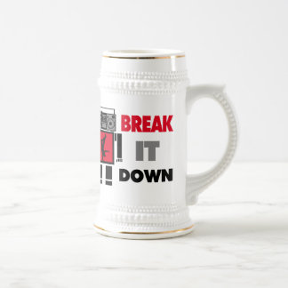 B Boy Boombox Robot Break It Down Beer Stein