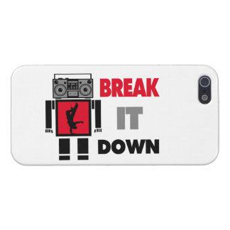 B Boy Boombox Robot Break It Down Case For iPhone SE/5/5s