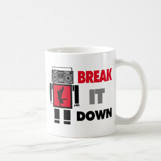 B Boy Boombox Robot Break It Down Coffee Mug