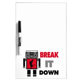 B Boy Boombox Robot Break It Down Dry-Erase Boards