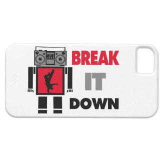 B Boy Boombox Robot Break It Down iPhone SE/5/5s Case