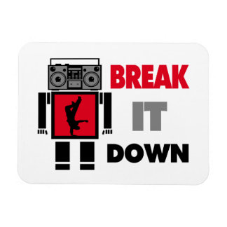 B Boy Boombox Robot Break It Down Magnet