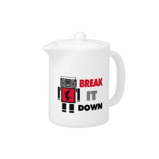 B Boy Boombox Robot Break It Down Teapot