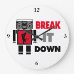 B Boy Boombox Robot Break It Down Wallclock