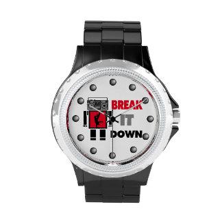 B Boy Boombox Robot Break It Down Wristwatch