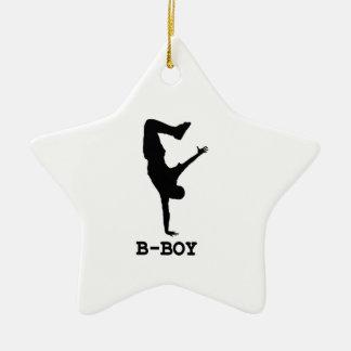 B Boy Ceramic Ornament