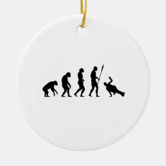 B-Boy Evolution Double-Sided Ceramic Round Christmas Ornament