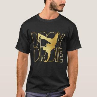 B-Boy Or Die Silhouette - Gold T-Shirt