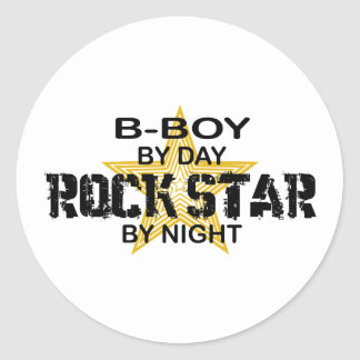 B-Boy Rock Star by Night Classic Round Sticker