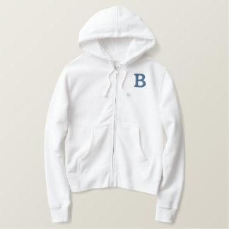 B Brooklyn Vintage Baseball Ladies Zip Hoodie