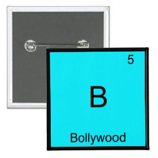 B - Camiseta divertida del símbolo del elemento de Pin Cuadrado