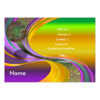 B-Card Mardi Gras-Multi-V1 Large Business Cards (Pack Of 100)