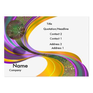 B-Card Mardi Gras-White-V1 Business Card Template