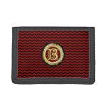 B - Chevron ZigZag Pattern Tri-fold Wallet