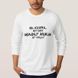 B-Chica Ninja mortal por noche Camisas