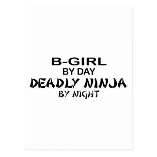B-Chica Ninja mortal por noche Postales
