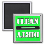 <B>Clean Dirty Dish Washer Magnet