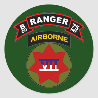 B Co, 75th Infantry Regiment - Rangers, Germany Classic Round Sticker