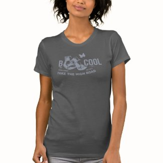 B COOL blue grey on dark grey T-Shirt