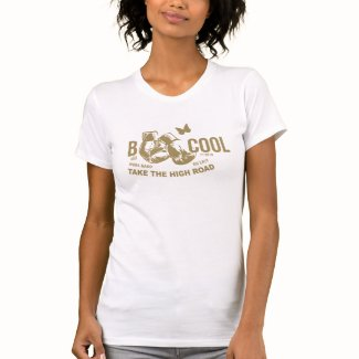 B COOL gold on white T-Shirt