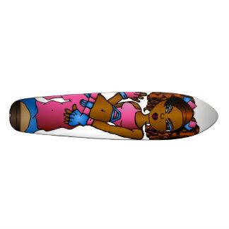b crew girl custom skate board