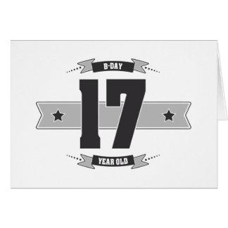 B-day 17 (Dark&Lightgrey) Card