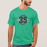 Hand shaped B-day 35 (Dark&Lightgrey) T-Shirt