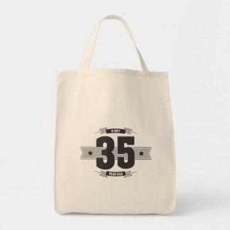 B-day 35 (Dark&Lightgrey) Tote Bag