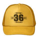 Hand shaped B-day 36 (Dark&Lightgrey) Trucker Hat