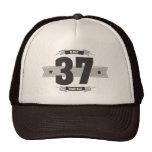 Hand shaped B-day 37 (Dark&Lightgrey) Trucker Hat