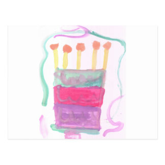 B Day Cake Postcard