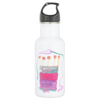 B Day Cake Stainless Steel Water Bottle