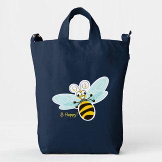 ¡_B de la abeja de Wing-Nutz™_Bumble (zumbido) Bolsa De Lona Duck
