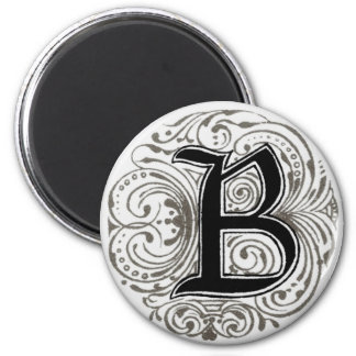 ` B del monograma' en el gris - imán