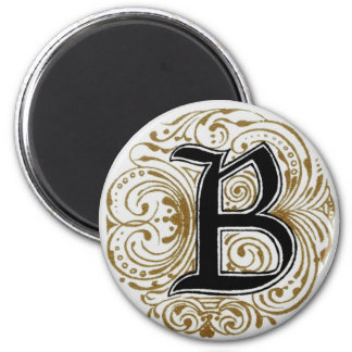 ` B del monograma' en el oro - imán
