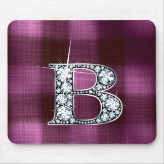"""B """"diamante Bling"""" en la tela escocesa Mousepad Alfombrillas De Raton"""