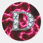 """B """"diamante Bling """" Etiquetas"""