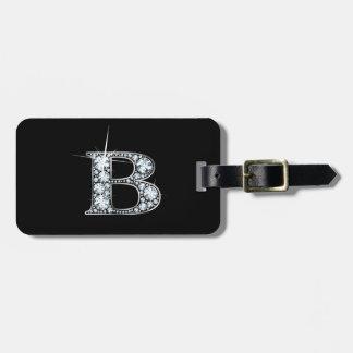 """B """"Diamond Bling"""" Luggage Tag"""