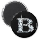 """""""B"""" Diamond Bling Magnet"""