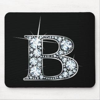 """B"" Diamond Bling Mousepad"