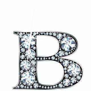 """B"" Diamond Bling Photo Sculpture"