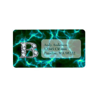 "B ""Diamond"" Monogram & Lightning Label"
