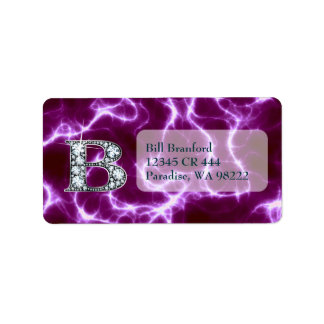 "B ""Diamond"" Monogram on Lightning Bolt Label"