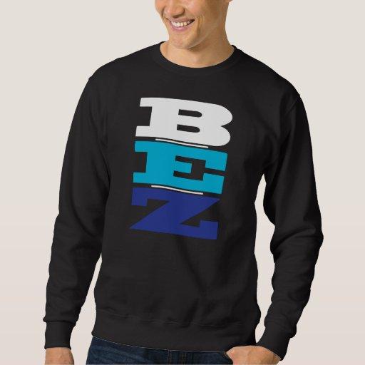 B-E-Z (sea fácil) - azul y blanco Sudadera